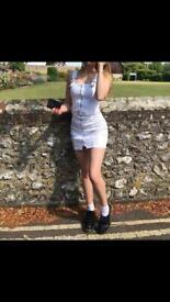 H&M white denim dress, size four