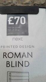 NEW. Roman Blind.