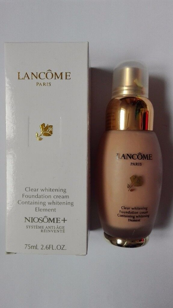 NEW Lancome Clear Whitening Foundation Cream Anti - Age 75ml