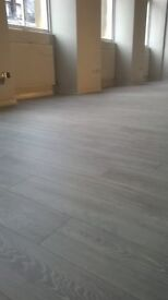 Charcoal and light grey 8mm laminate bundle underlay beading delivery door bar fitting £320 20m2