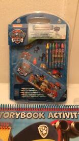 Paw patrol giant colouring book and stationery set
