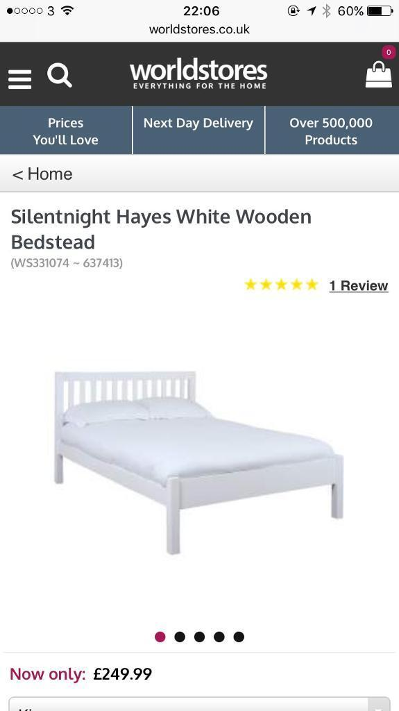 Silent night king size bed