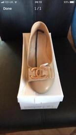 Chanel flats tan colour only