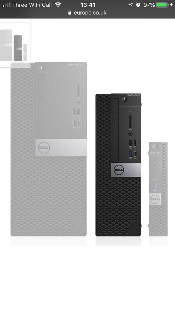 Dell Optiplex 7050 Gaming Pc Nvidia Gtx 1050 Ti 4gb Gddr5 Oc In