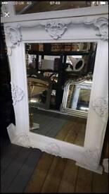 White brand new shabby chic mirror sale