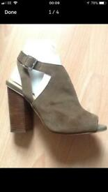 Size 6 real suede ankle boot