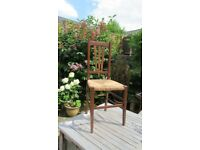 Vintage Wooden Chair Rush Seat Occasional Chair Super little chair, ideal for bedroom or hallway.