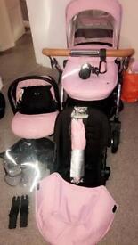 Silver Cross Wayfarer vintage pink