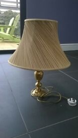 BHS brass coloured lamp with M&S shade