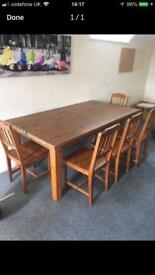 Ikea Forsby Dinning table and 5 chairs