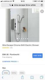 Mira escape electric shower WHITE
