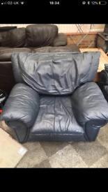2x blue arm chairs