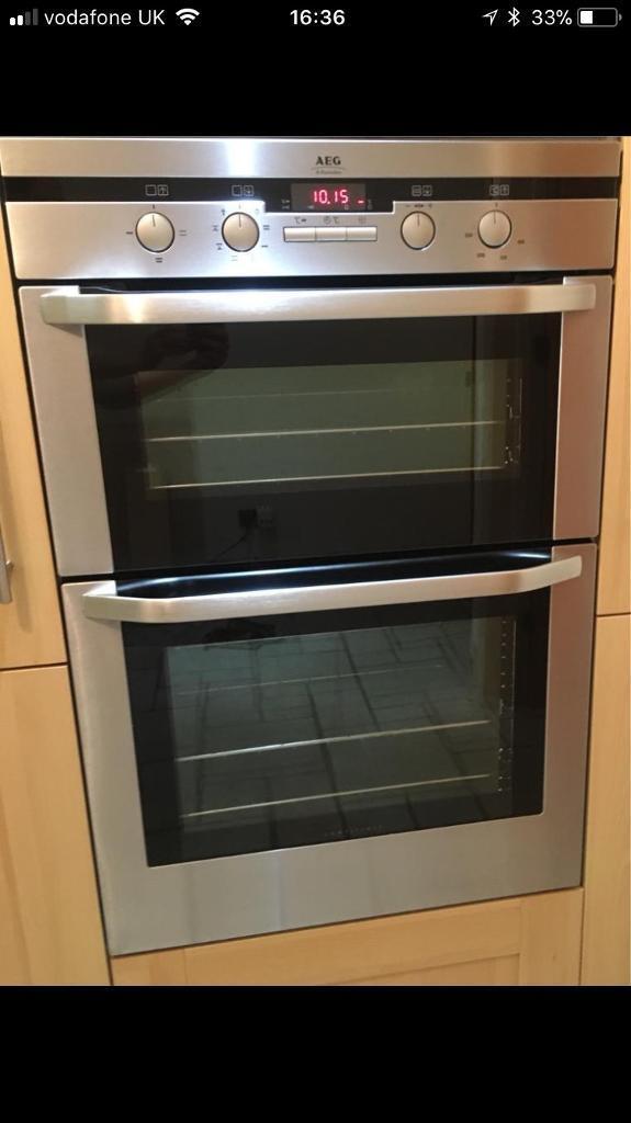 AEG Electrolux electric double oven excellent condition Workington Cumbria