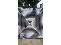 2 x 100 % WOOL HAND MADE BLANKET /THROWS