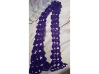 Hand knitted crochet scarf for sale!!