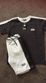 Kids Hugo boss short and tshirt set