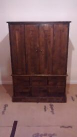 Dark Wood TV Cabinet and Chest of Drawers (from Laura Ashley)