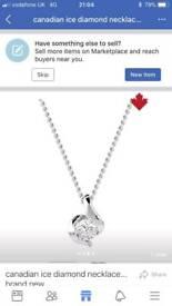 9ct wg canadian ice diamond pendant