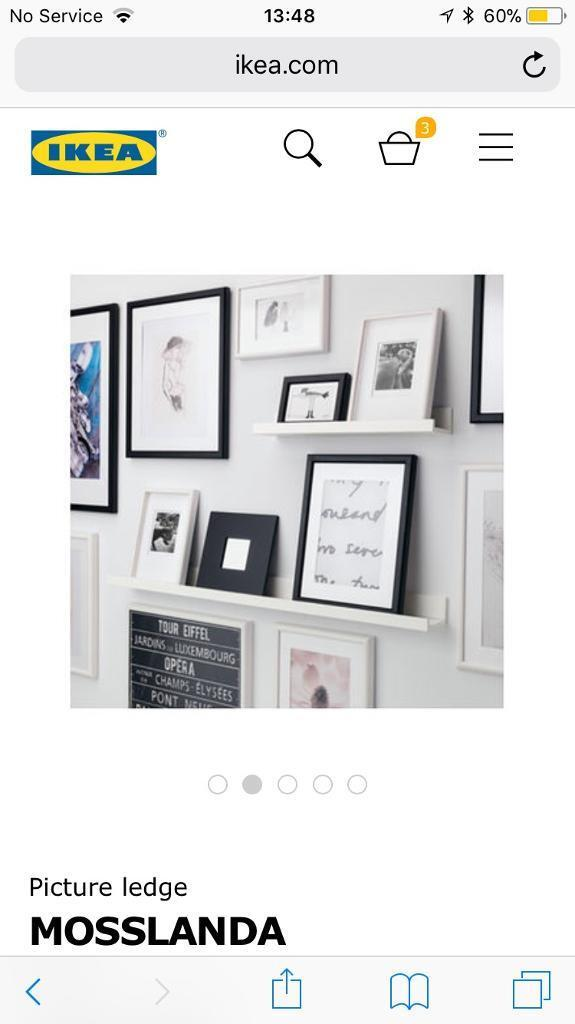 Two Ikea picture shelf / ledges