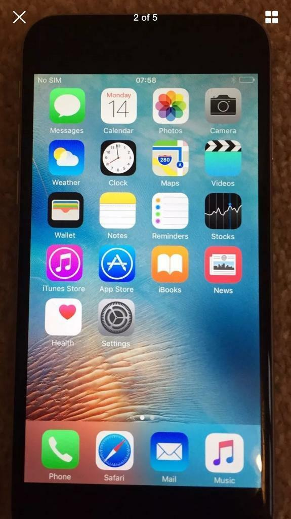 iPhone 6 64GB Space Greyin Hazel Grove, ManchesterGumtree - I am selling a immaculate condition iPhone 64gb space grey unlocked.This phone doesnt have any chargers or boxes with the phone.This iPhone has no water damage, scratches, marks of any kind. I am selling this phone as I have just got the latest phone...