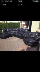 Lack Italian leather sofa suite