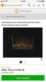 Adam Nexus wall mounted electric fire