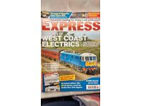 5 Rail Express Magazines, December 2015 - April 2016 all in first class condition