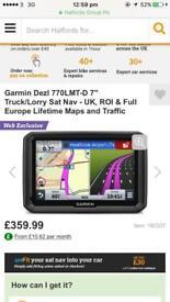 """Garmin Dezl 770LMT-D 7"""" Truck/Lorry Sat Nav - UK, ROI & Full Europe Lifetime Maps and Traffic"""