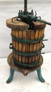 Wine & Cider Press WINE PRESS Rossi made in Italy #40 WITH BLOCKS Mfg. Co. Ratcheting Cast Iron