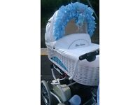 Silver cross old fashion style pram + removable footmuff cosey/toes & changing bag