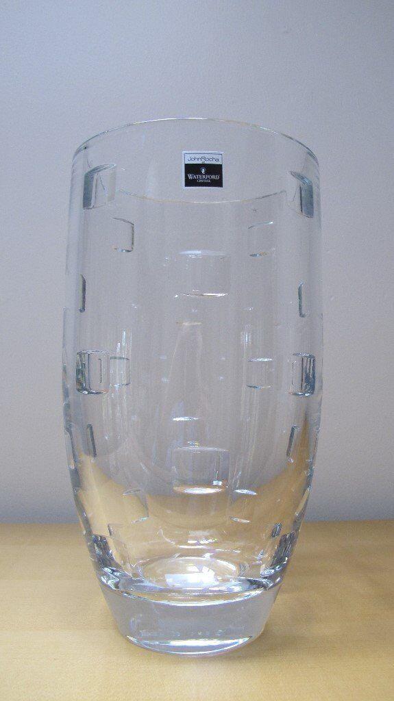 Large Crystal Vase John Rocha Waterford Collection In Kensington