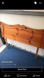 Double pine headboard only £25ono