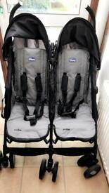 Chicco double stroller good condition