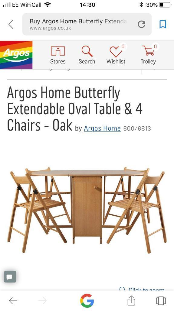 butterfly table with chairs in honiton devon gumtree