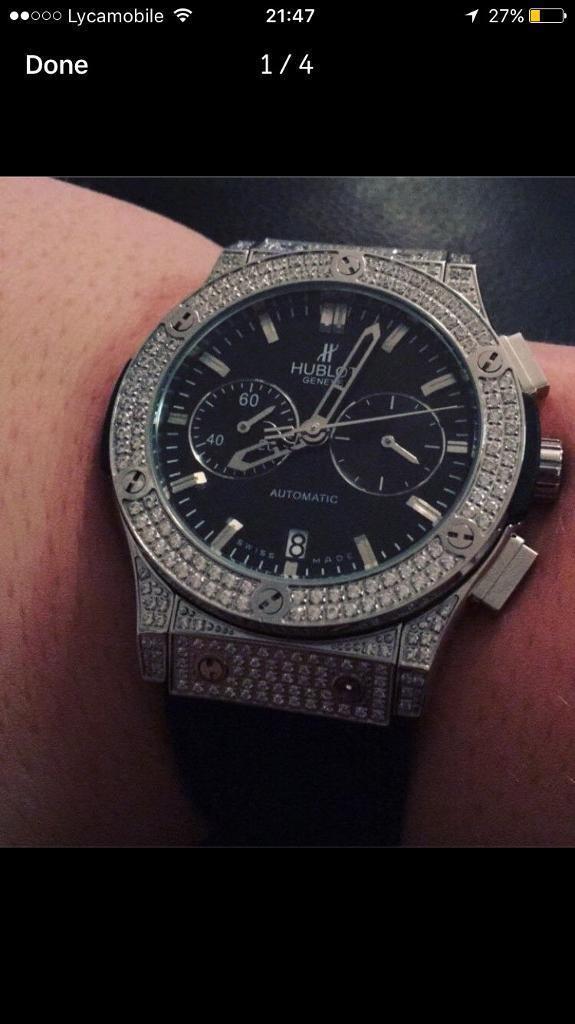 Hublot iced watch