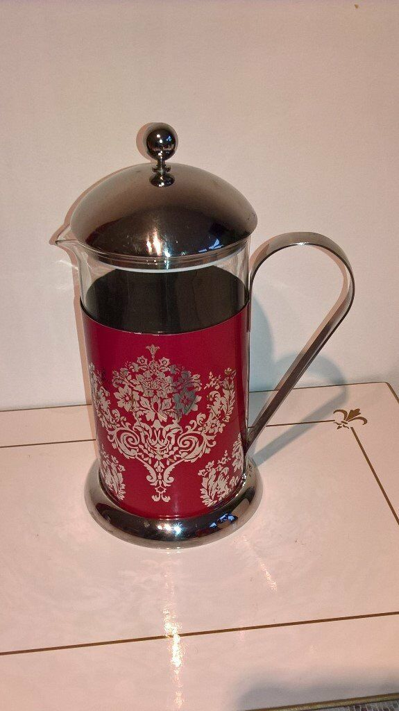 Cafetiere : Red Damask Cafetiere