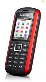 SAMSUNG B2100 TOUGH BUILDERS PHONE RED & BLACK **UNLOCKED**