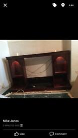 Furniture fire surround display cabinet