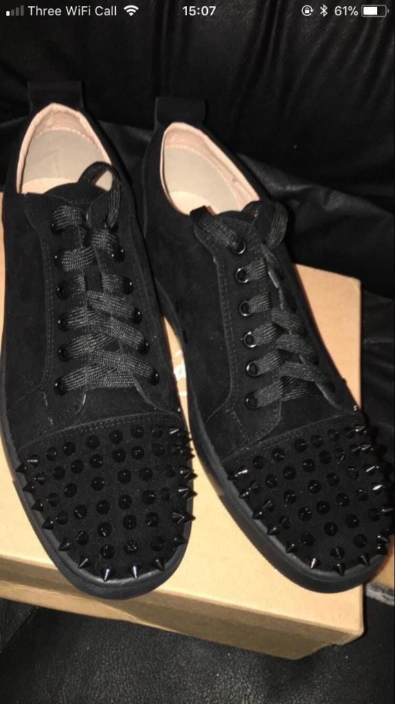 detailed look 7ee89 c4a31 MENS BLACK CHRISTIAN LOUBOUTINS LOW TOP 10-11 UK | in Edgware, London |  Gumtree
