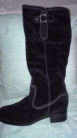 M&S Suede Leather Ladies Boots
