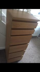 Ikea Tallboy Chest Of 6 Drawers With Mirror