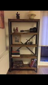 Very solid hand made industrial style bookcase/shelf unit-different sizes upon request