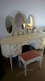 Louis xv bedroom furniture wardrobe dressing table and chest of drawers