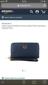 Michael Kors phone case navy wallet
