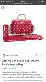 Cath kidston changing bag and accessories used but like new