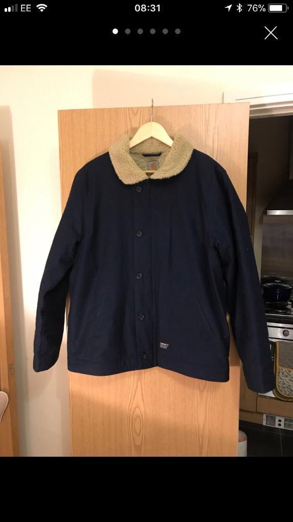 Carharrt Large Navy Blue Sheffield Coat/Jacket