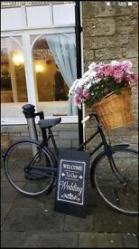 Vintage bike with basket ideal for wedding prop