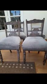 4 x Victorian dining chairs