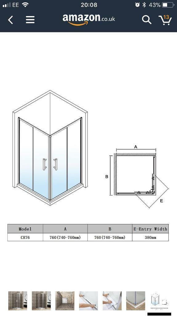 760x760 shower enclosure