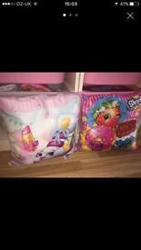 2 shopkins cushions